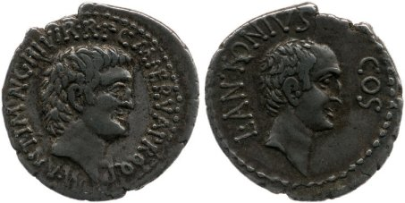 Lucius Antonius and Marcus Antonius Coin BM