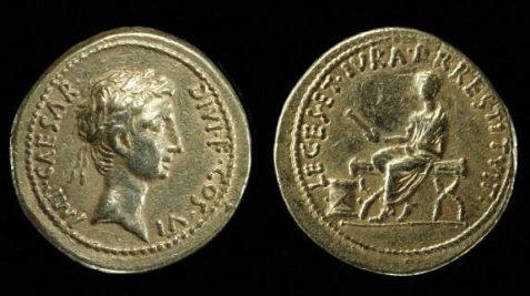 Aureus 28 BC