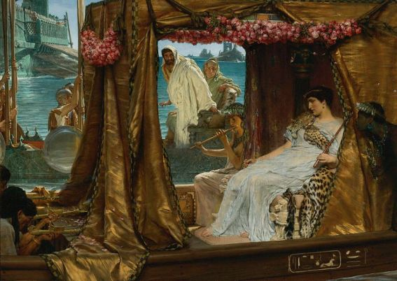 Alma-Tadema_-_The_Meeting_of_Antony_and_Cleopatra 1885